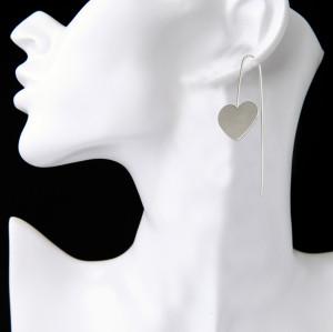 E-3891 Bohemian Vintage Gold Silver Plated Heart Love Drop Earring Hook Earrings for Women
