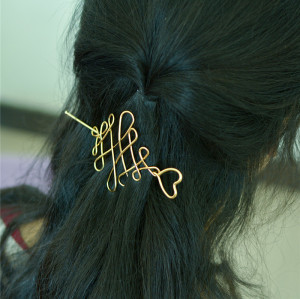 F-0366 2 Styles 2 Colors Minimalist Gold Silver Hollow Geometric Metal Hairpin Hair Clip Hair Jewelry