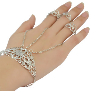 B-0818 Bohemian Tibetan Style Fashion Silver Plated Bracelet Adjustable Ring with Bracelets For Women Jewelry
