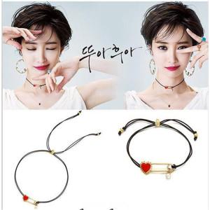 B-0817 N-6500 E-3894 1 Set Korean Ethnic Red Heart Shape Pearl Choker Necklace Bracelet Earrings For Women Set Jewelry