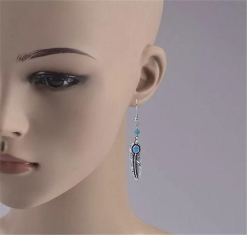 E-3897 Fashion Silver Plated 8 Styles Resin Beads Dangle Earring for Women Jewerly