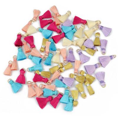 E-3899 100pcs 22 mm Length Mixed Small Silk Cotton Thread Tassels Fringe for Women Earrings DIY Jewelry Findings Wholesale