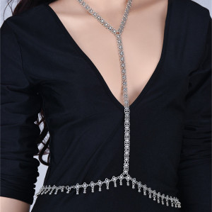 N-6524 Europe Fashion Handmade Hallow Out Water Droplets Retro Sexy Bikini Body Chain for Women