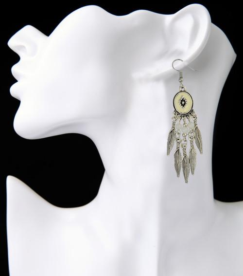 E-3915 Bohemian Antique Silver plated Fashion Earring Bead Dangle Earrings For Women Jewelry