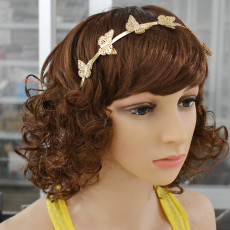 F-0376 New Fashion Gold Plated Butterfly Shape Hair Jewelry for Girl Hair Accessories