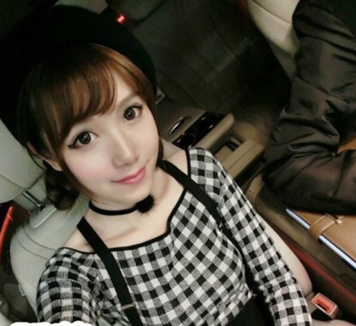 N-6560 Gothnic styles fashion choker necklaces  4 colors velvet flower collar short calvicle necklaces women accessory