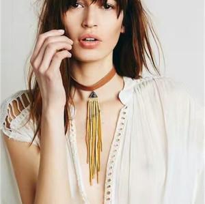 N-6562 Fashion Retro Velvet Collar Bib Necklace Choker Pendant Necklace for Women 2 Colors