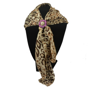 P-0349 Elegant Fashion 5 Colors Gold Silver Plated Alloy Stimulated Pearl Crystal Flower Shape Scarf  Buckle Brooch Women & Girl Accessory