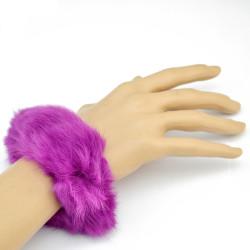 B-0827 4 Colors Plush Wide Bangle Elastic Rope Adjustable Bracelets For Women Jewelry