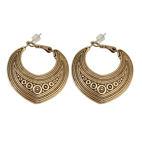 E-3918 Fashion Bohemia Silver Gold Plated Indian Style Vintage Shinny  Geometry Earrings