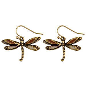 E-3923 Pair  Bohemia Vintage Silver Hoop Sunshine Dragonfly Dangle Earrings Jewelry for Women