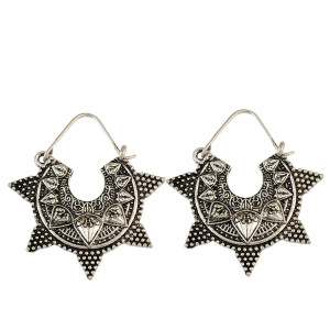 E-3925 Vintage Ethnic Tibetan Silver Hook Earring Dangling Earrings Tribal Jewelry 2 Colors