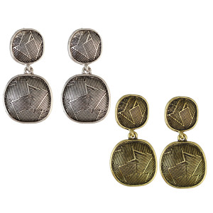 E-3929 Bohemian Fashion Silver Bronze Indian Style Vintage Geometry Shape Earrings For Women Jewelry
