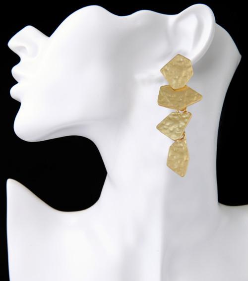 E-3936 Bohemian Fashion Silver Bronze Indian Style Vintage Geometry Shape Earrings For Women Jewelry