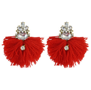 E-3939 Luxry Drop Earrings Shine AAA Zircon Crystal Dangle Stud Tassel Earring 4 Colors