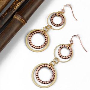 E-3943 New Arrival 2 Colors Gold Plated Alloy Dangle Earrings Drop Long Earrings Fashion Women Jewelry
