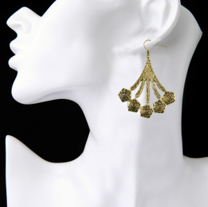 E-3946 Bohemian Vintage Silver Gold Plated Alloy Earring Drop Earrings for Women Jewelry