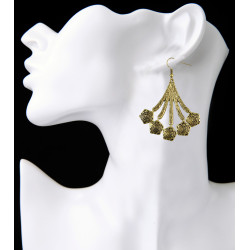 E-3946 Bohemian Vintage Silver Gold Plated Alloy Earring Drop Earrings for Women Jewelry