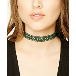 N-6590 3 Colors Fashion Vintage Black Lace Velvet Collars Necklace Choker Short Clavicle Chain for Women Jewelry