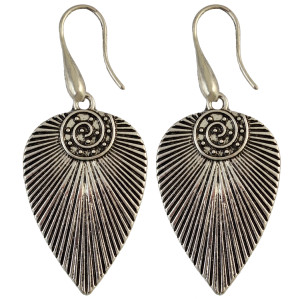 E-3948 High Quality Fashion Silver Plated Alloy Leaf Shapr Drop Dangle Earrings Women Accessory