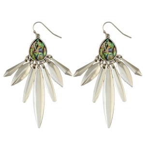 E-3949 Fashion Bohemian Vintage Silver Plated Carving Drop Shape Dangle Earrings For women Jewelry