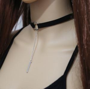 N-6619 Vintage Style Black Brown Adjustable Choker Velvet Necklace for Women Jewelry
