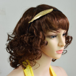 F-0382 New Fashion Hairband Leaf Shape Crystal Alloy Hair Jewelry for Girl Hair Accessories