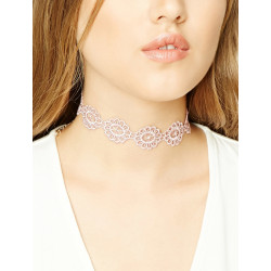 N-6623 Women's Fashion Jewelry Lace Crochet Necklace Choker