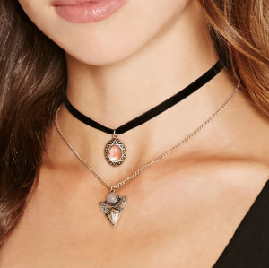 N-6626 Vintage Style Adjustable Drop Pendant Choker Velvet Alloy Necklace for Women Jewelry