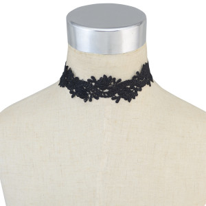N-6627 Vintage Black Lace Choker Necklaces Women Fashion Punk Gothic Choker Handmade Jewelry