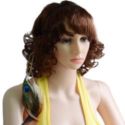 F-0384 New Design Bohemian Handmade Ethnic Tribal Leather Feather Tassel Hairband Hairwear For Women Hair Jewelry