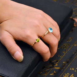 R-1426 4pcs/set Fashion Vintage Gold Joint Knuckle Nail Crystal Rhinestone Midi Ring Set Jewelry for Women