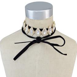 N-6657 Fashion Wedding Jewelry Horse Eyes Rhinestones Crystal Choker Necklace for Bridal