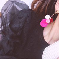 E-3979 Korea Fashion Gold Plated Plush Balls Tassel Dangle Earrings for Women & Girl 's Jewelry