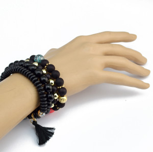 B-0840 4 Pcs/set Handmade Strength Beaded Bracelet Energy Waist Bracelet 5 Colors