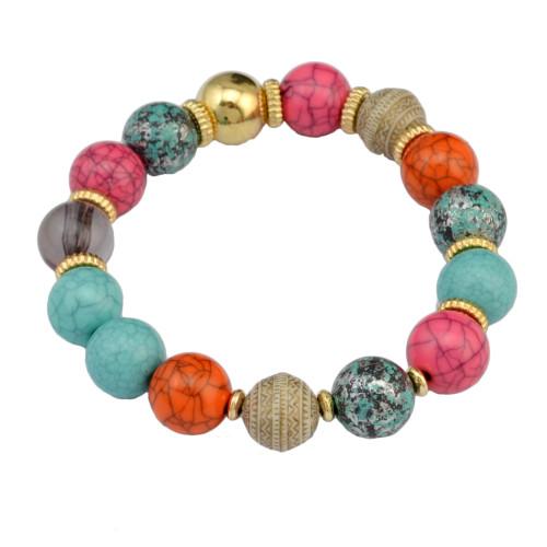 B-0839 3Pcs/set Bohemian Fashion vintage Handmade Strength Beaded Bracelet