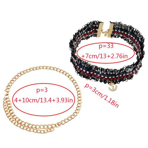 N-6699 2Pcs/Set Vintage Black Punk Style Gothic Sexy Choker Velvet Necklace Women Jewelry