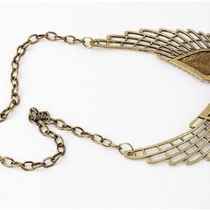 European style reteo angel wings Pearl choker Necklace N-2763