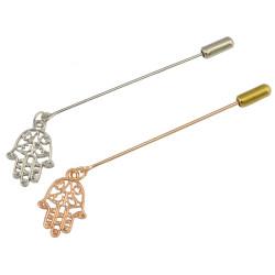 P-0360 Fashion Gold Hamsa Hand Brooch Pin