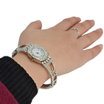 B-0835 New Arrival European Watches Bangle Crystal Rhinestone Women Bracelet Dress Quartz Watch Casual Wristwatch