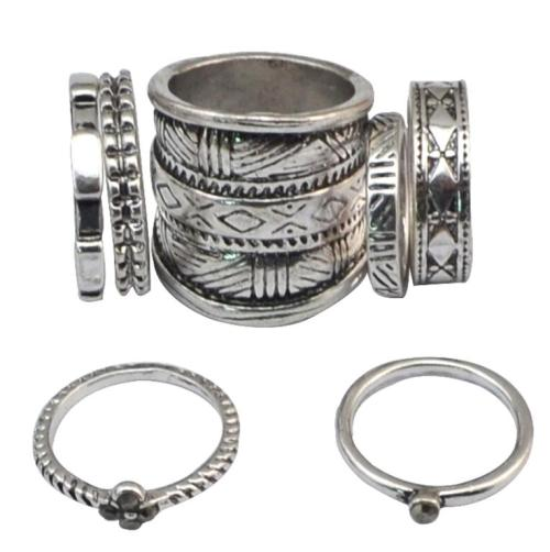 R-1434 2 Colors 7pcs/set Bohemian Vintage Silver Gold Joint Knuckle Midi Finger Charm For Women Rings Jewelry