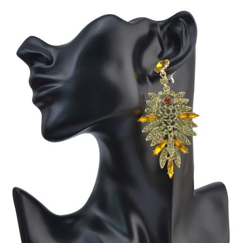 E-4045 5 Colors Luxury Drop Earring Inlay Crystal Rhinestone  Dangle Long Earrings For Women Jewelry