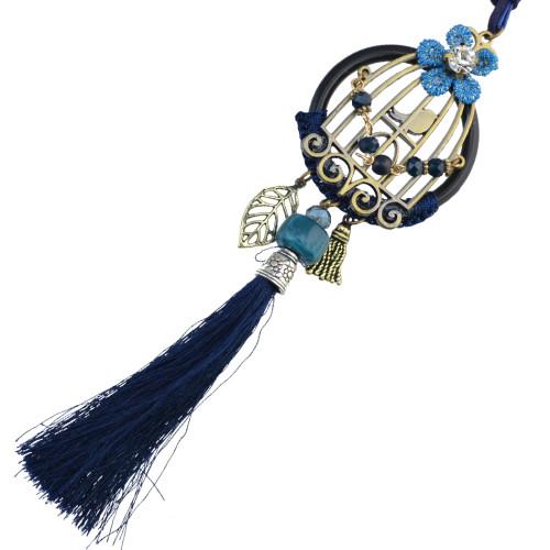 N-6753 New Arrival Bohemian Pendants Tassel Charm Crystal Rhinestone Necklace Women Jewelry