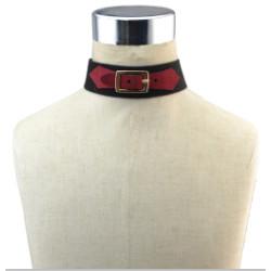 N-6750 Gothic Jewelry Women Black Red Velvet Choker Necklace Adjustable Boho Short Necklaces