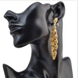 5 color European Fashion Vintage Noble Rhinestone Drop Dangle Earring For Women Ladies Luxury Jewelry