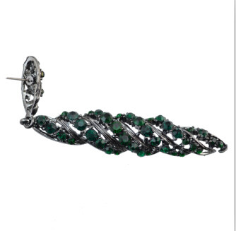 E-4067  5 Colors European Fashion Vintage Luxury Rhinestone Dangle Drop Earrings For Women Jewelry