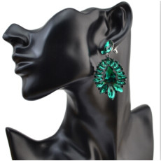 E-4062  6 Colors Luxury Drop Earring Inlay Crystal Rhinestone Dangle Long Earrings For Women Jewelry