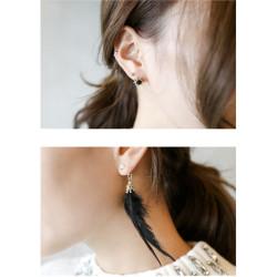 E-4068 New Arrival Irregular Fashion Women Bohemian Feather Tassel Long Drop Dangle Earring Party Earring Jewelry