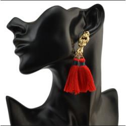 E-4074 6 Colors Bohemian Vintage Gold Tassel Earring Chain Dangle Long Earrings for Women Jewelry
