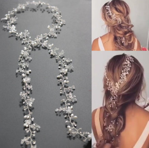 F-0403 New Fashion  Charm Crystal Rhinestone Pearl  Hairband for Women Jewelry